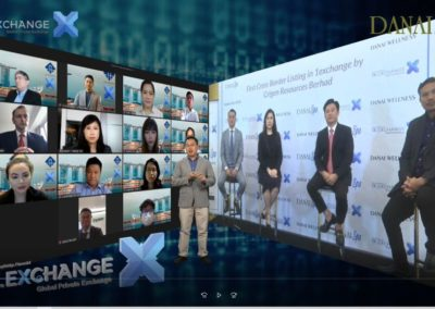 "1st Cross Border Virtual IPO Streaming. Danai Spa<br/><a href=""https://www.asiaone.com/business/crigen-resources-berhad-lists-1exchange-singapores-first-cross-border-direct-private"" target=""_new"" rel=""noopener noreferrer"">Featured in ASIAONE</a>"